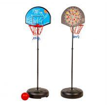 2-i-1 stander m. basketkurv og dartskive