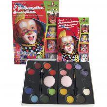 Ansigtsfarve - Palette m. 16 farver og idéer