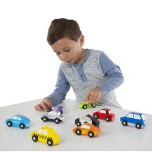 Biler i træ - Små køretøjer - 9 køretøj