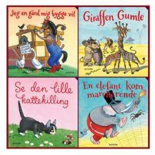 Elefantastiske børnesange - Gaveæske m. 4 papbøger