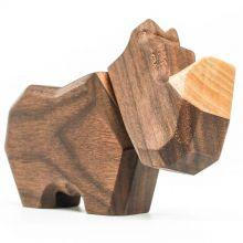 FableWood - Magnetisk trælegetøj, Lille næsehorn