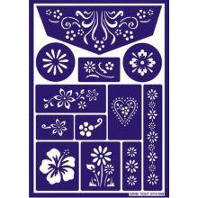 Ansigtsfarve - Skabelon til blomster