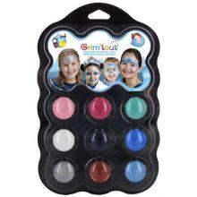 Ansigtsfarve - Palette m. 9 farver - Vinter