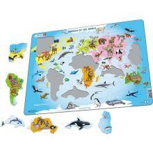 Larsen puslespil - Verdens dyr, 28 brikker