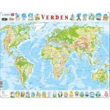 Larsen puslespil - Verdenskort