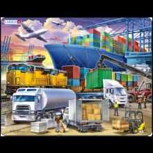Larsen puslespil - Containerhavn, 37 brikker