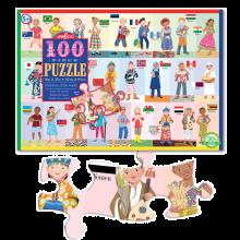 Puslespil med 100 brikker - Verdens børn